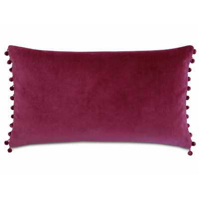 Eastern Accents Plush Frou Cotton Lumbar Pillow Color: Magenta - Perigold