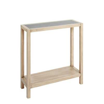 Wood Rectangle Slim Console Table Gunmetal - Silverwood, Brown - Target