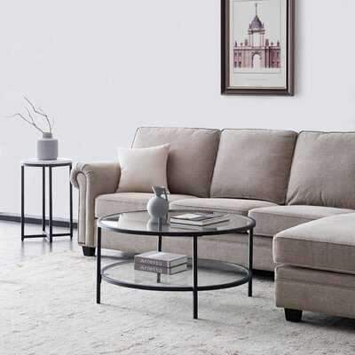 Glass Round Coffee Table Transparent Color - Wayfair