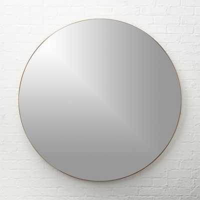 "Infinity Brass Round Wall Mirror 48"" - CB2"