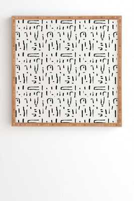 """Abstract Brushstroke Framed Artwork, 30""""x30"""" - Haldin"""