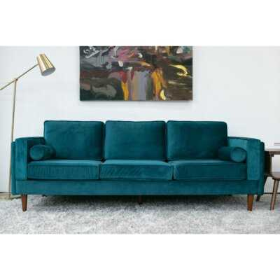 "Lindel Velvet 88"" Flared Arm Sofa - Wayfair"