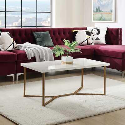 Sivalls Cross Legs Coffee Table with Storage - Wayfair