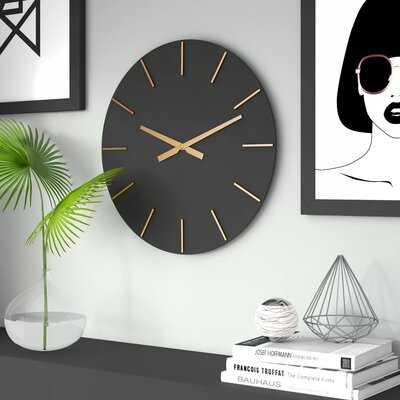 "Oversized Pressley 24"" Wall Clock - Wayfair"