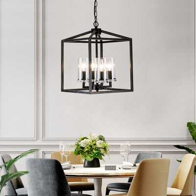 Gurganus 4 - Light Lantern Square Chandelier - Wayfair