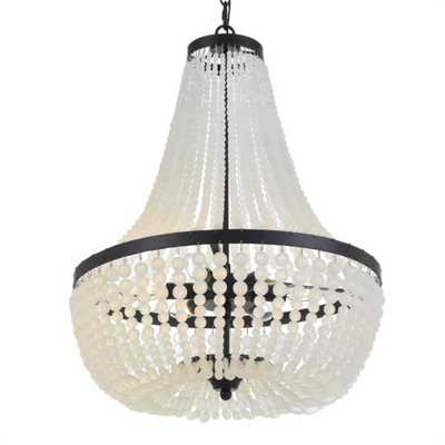 Crystorama Rylee 6-Light Beaded Chandelier - Home Depot