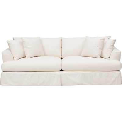 Andre Slipcover Sofa, Dyno White - High Fashion Home