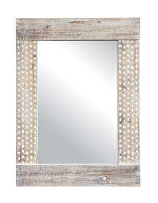 Wall Mirror with White Wash Finish - Nomad Home