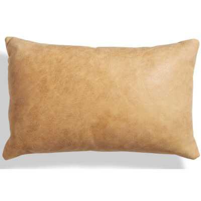 """Blu Dot Signal Leather 20"""" X 13"""" Lumbar Pillow Color: Camel - Perigold"""