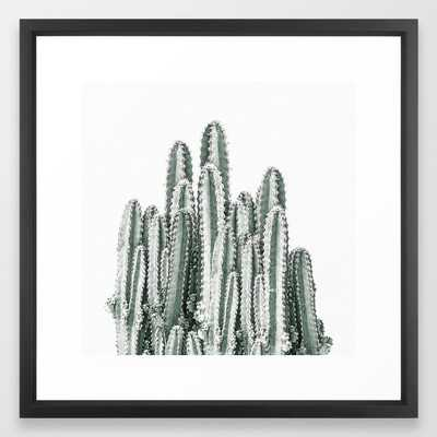 Desert Cacti Framed Art Print by Christina Lynn Williams - Vector Black - MEDIUM (Gallery)-22x22 - Society6