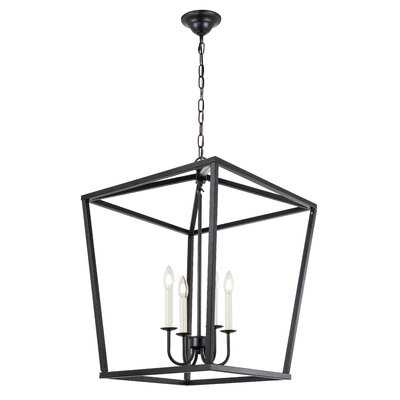Tanguay 4 - Light Lantern Square / Rectangle Pendant - Wayfair