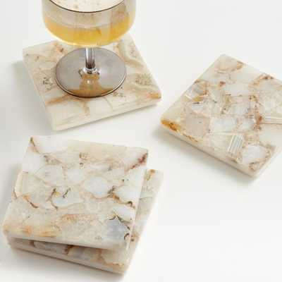 Marcella Agate Coasters, Set of 4 - Crate and Barrel