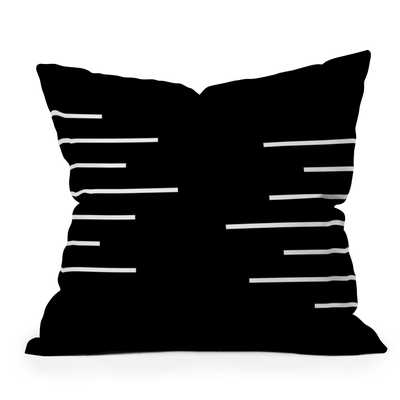 "Geometric Stripes by Kelly Haines - Outdoor Throw Pillow 26"" x 26"" - Wander Print Co."