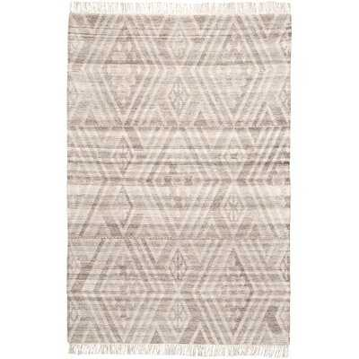 Haught Handwoven Flatweave Wool/Cotton Gray Area Rug - AllModern