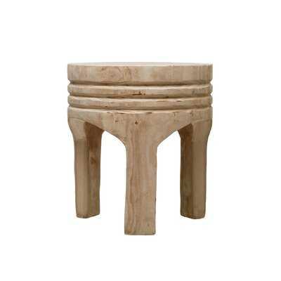 Paulownia Wood Stool - Wayfair