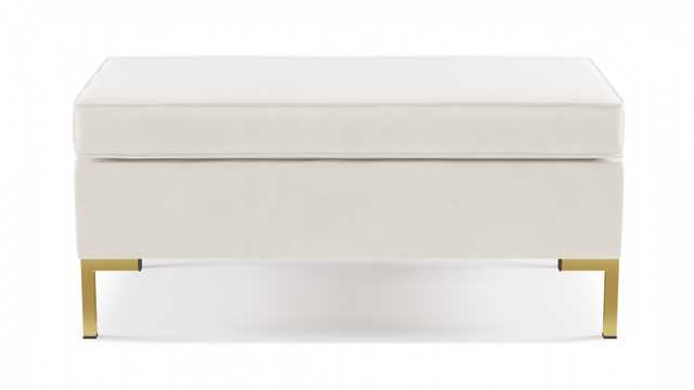 Modern Bench | White Velvet - The Inside