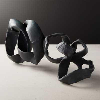 Black Ribbon Sculpture - CB2