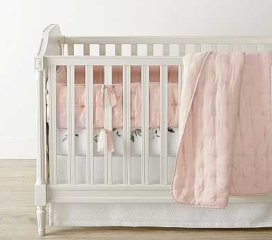 Meredith Quilt Set with Amelia Dusty Rose Toddler Quilt and Matelasse Cribskirt - Pottery Barn Kids