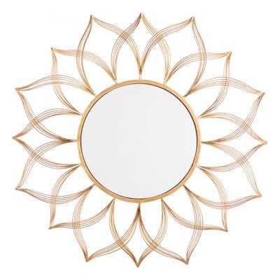 Alexa Flower Accent Mirror - Wayfair
