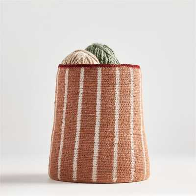 Anise Vertical Striped Basket - Crate and Barrel