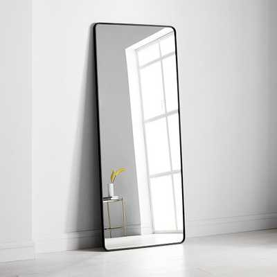 Modern Streamline Metal Floor Mirror Antique Bronze - West Elm