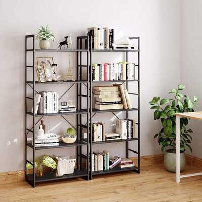 5 Tier Bookshelf, Tall Bookcase Shelf Storage Organizer, Modern Book Shelf For Bedroom, Living Room And Home Office, Black - Wayfair