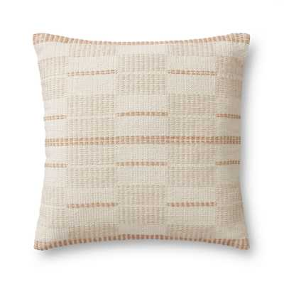 """PILLOWS P1171 MULTI 22"""" x 22"""" Cover w/Poly - Magnolia Home by Joana Gaines Crafted by Loloi Rugs"""