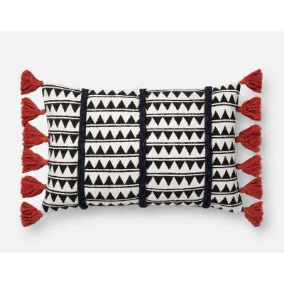 """Cotton Indoor Geometric Rectangular 13"""" Lumbar Pillow Fill Material: Polyester/Polyfill - Perigold"""