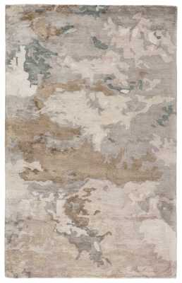 Glacier Handmade Abstract Light Gray/ Taupe Area Rug (9'X12') - Collective Weavers