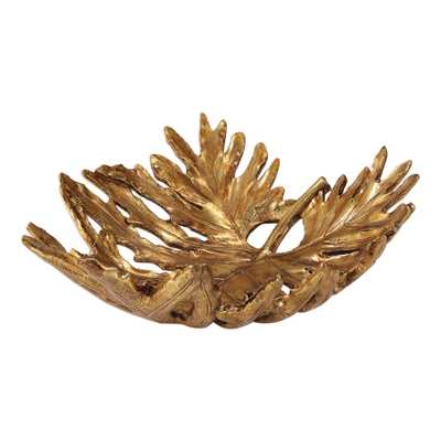Oak Leaf Metallic Gold Bowl - Hudsonhill Foundry