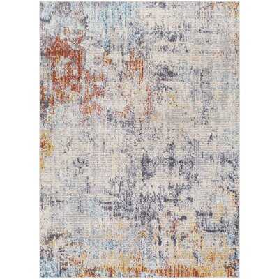 Banda Abstract Blue/Saffron Area Rug - Wayfair