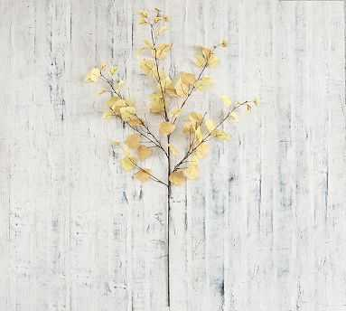 Faux Autumn Aspen Tree Branch, Yellow, One - Pottery Barn