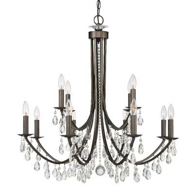 "Crystorama Bridgehampton 32"" Wide Bronze 12-Light Chandelier - Style # 83F97 - Lamps Plus"
