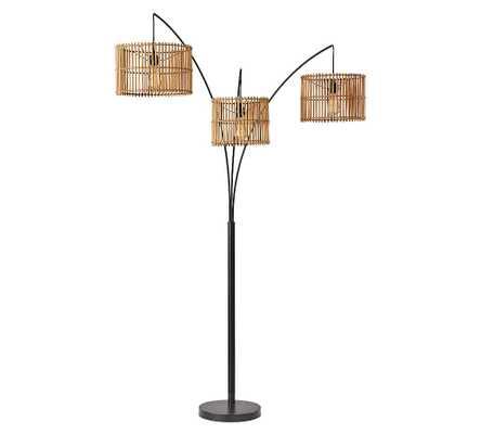 Elsbeth Metal Arc Sectional Floor Lamp, Dark Bronze - Pottery Barn