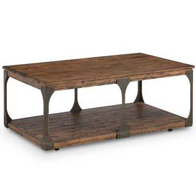 Aradhya Wood Coffee Table with Casters - Wayfair