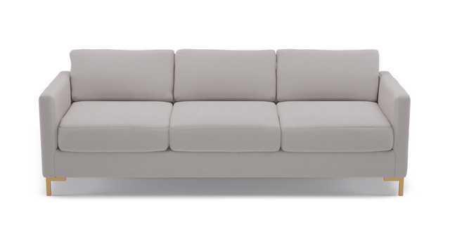 Modern Sofa | Platinum Velvet - The Inside