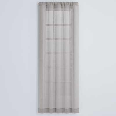 """Hemp Natural 50""""x108"""" Curtain Panel - Crate and Barrel"""