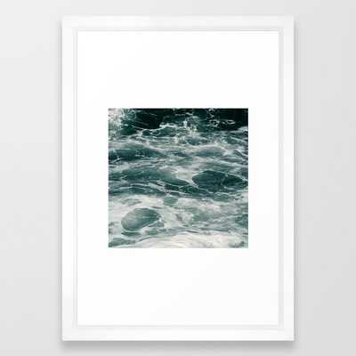 Ocean Framed Art Print by Dorit Fuhg - Vector White - SMALL-15x21 - Society6
