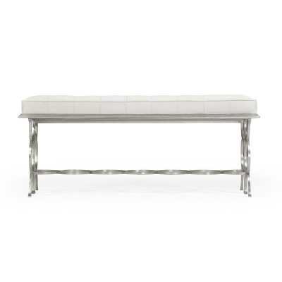 Jonathan Charles Fine Furniture Rectangular Metal Bench - Perigold