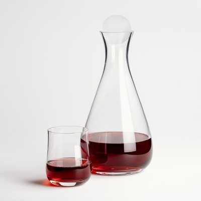 Decanter and Stemless Wine Glass Gift Set - Crate and Barrel