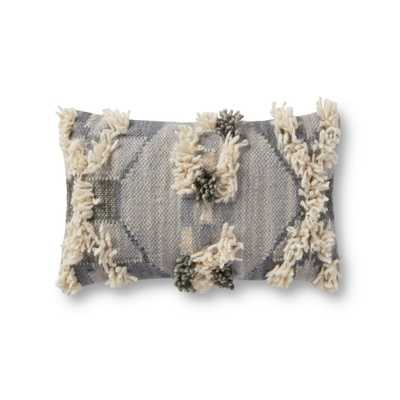"""PILLOWS P4149 GREY / MULTI 13"""" x 21"""" Cover w/Poly - ED Ellen DeGeneres Crafted by Loloi Rugs"""