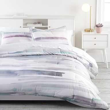 west elm x pbt Watercolor Wash Comforter, Full/Queen, Multi - Pottery Barn Teen