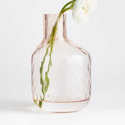 Cecillia Large Pink Glass Vase - Crate and Barrel