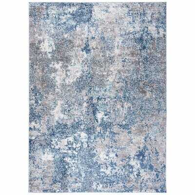 Mauney Abstract Navy/Gray Area Rug - Wayfair