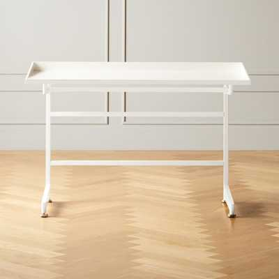 Mason White Writing Desk - CB2