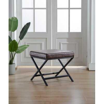 Riles Leather Ottoman - Wayfair