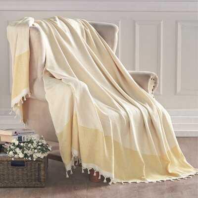 Forbes Turkish Cotton Throw Blanket - Birch Lane