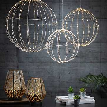 LED String Lights, 10', Loops, Set of 3 - West Elm
