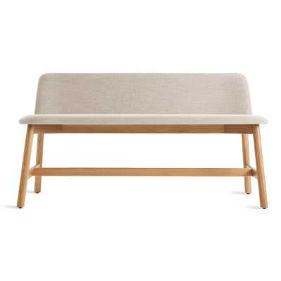 Blu Dot Chip Upholstered Bench Color: White Oak/Tait Stone - Perigold