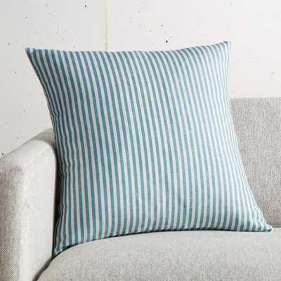 "18"" Costa Nova Linen Stripe Pillow with Down-Alternative Insert - CB2"
